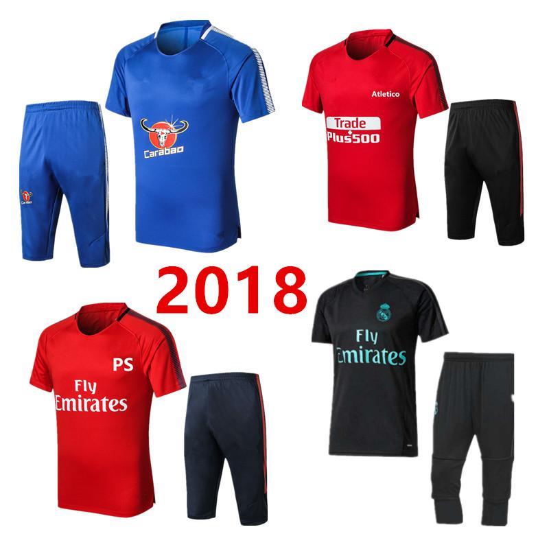 debfc7d9a3 2019 2018 Real Madrid NEYMAR JR Survetement Chandal Sweat Football Training  Kit Football Shirt 3/4 Short Sleeve Pants Soccer Equipment From  Wanmeishijiejing ...