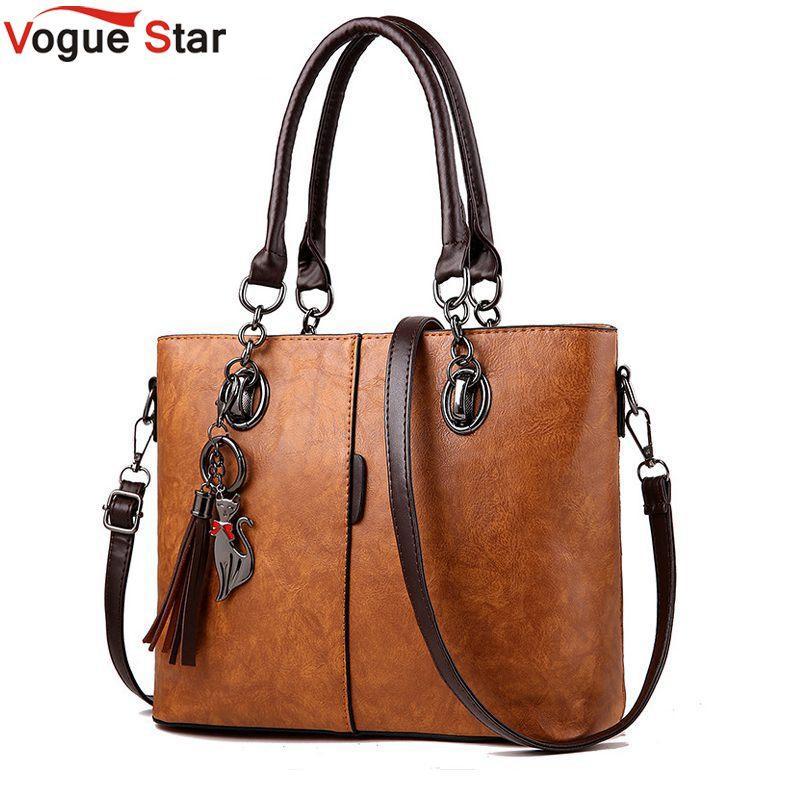 8235fc454e 2018 Big Ladies Hand Bag For Women Solid Shoulder Bag Leather Handbag  Luxury Handbags Women Designer Messenger Bags L20 Ladies Purses Fashion Bags  From ...