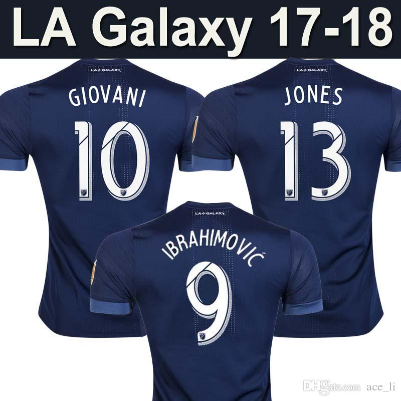 promo code 87bb1 c3576 AAA Thailand quality Los Angeles LA Galaxy soccer jerseys IBRAHIMOVIC  GIOVANI JONES ROGERS GERRARD home football jerseys 2018 soccer shirts