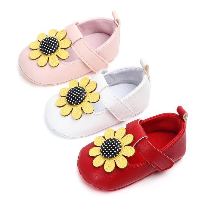 quality design 97cff dc284 Baby Mädchen Schuhe Prinzessin Schuh Baby Sun Blume Studie Walking Baby  Schuhe weichen Boden 0-1 Jahr