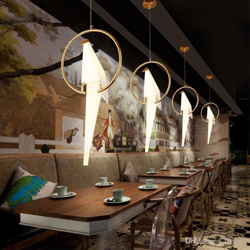 Großhandel Moderne Origami Kran Vogel Pendelleuchte Wandleuchten Nordischen  Stil Kreatives Design Persönlichkeit Lampe Hängen Hotel Halle Salon ...