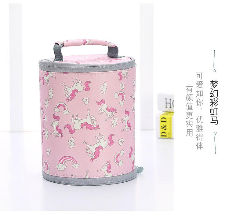 dec60ad4b0 Portable Thermal Lunch Bag Round Rice Bag Solid Felt Lunch Box Bags Tote  With Tinfoil For Women Kids Picnic Camping Set Designer Handbag Sale Wallet  Purse ...