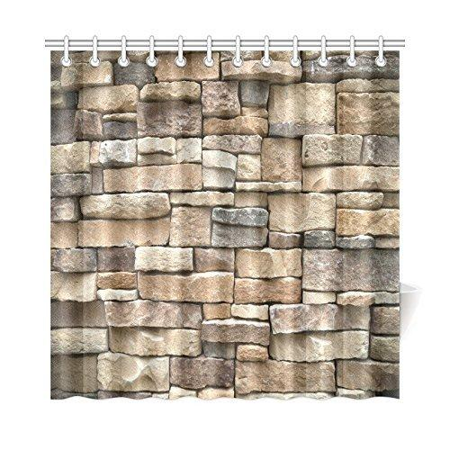 2019 Aplysia Rock Wall Shower Curtain Colored Stone Surface Retro Village Style House Design Decorative Fabric Curtains From Huayama 280