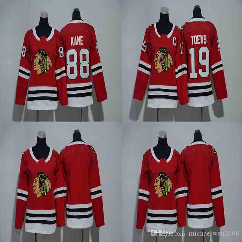 Lady 19 Jonathan Toews Jersey 2018 New Season Chicago Blackhawks 88 Patrick  Kane Women Hockey Jerseys Cheap UK 2019 From Michaelwen2008 b6f87baa2e