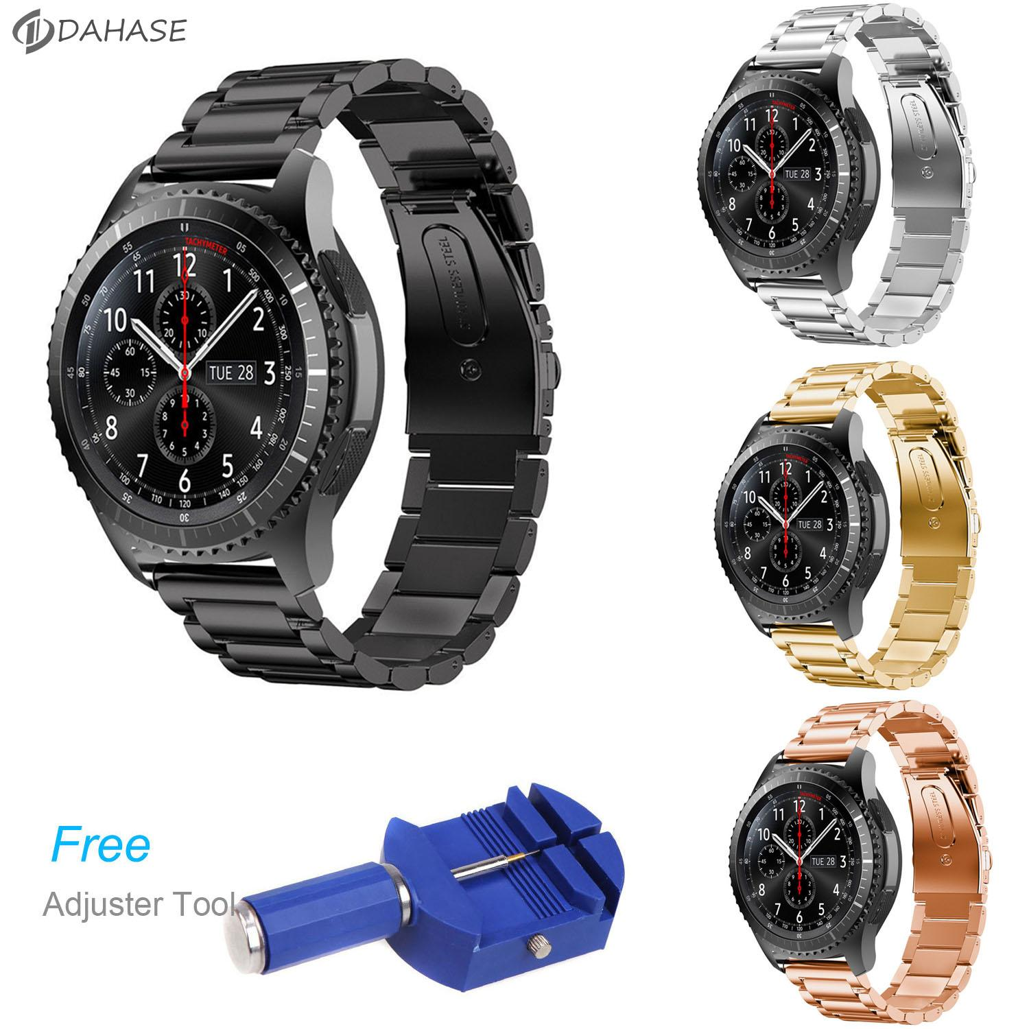 Dahase Stainless Steel Watch Band For Samsung Gear S3 Frontier Strap For Gear S3 Classic Smart Watch Bracelet With Adjust Tool Alligator Watch Bands Debeer