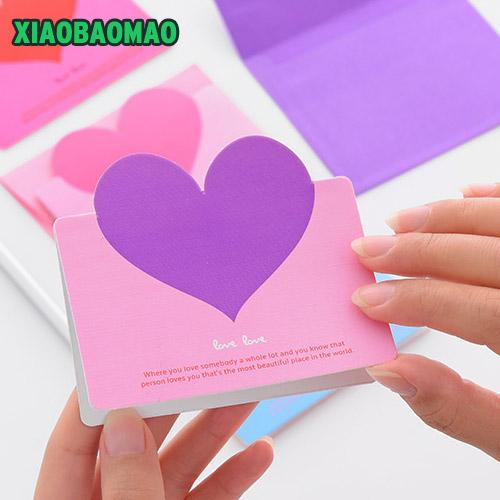 2018 new year christmas heart shaped birthday christmas greeting message card envelope festivals gift xlg684 from zijinflo 20 37 dhgate com