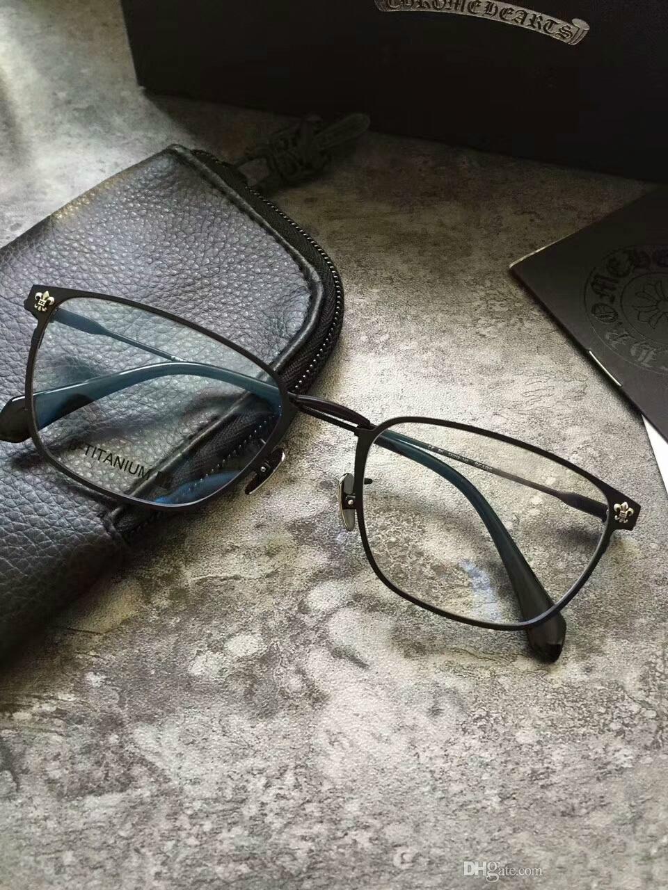 303702460e974 Fashion Chrome Pure Titanium Frame Eyeglasses Frame Men Glasses ...