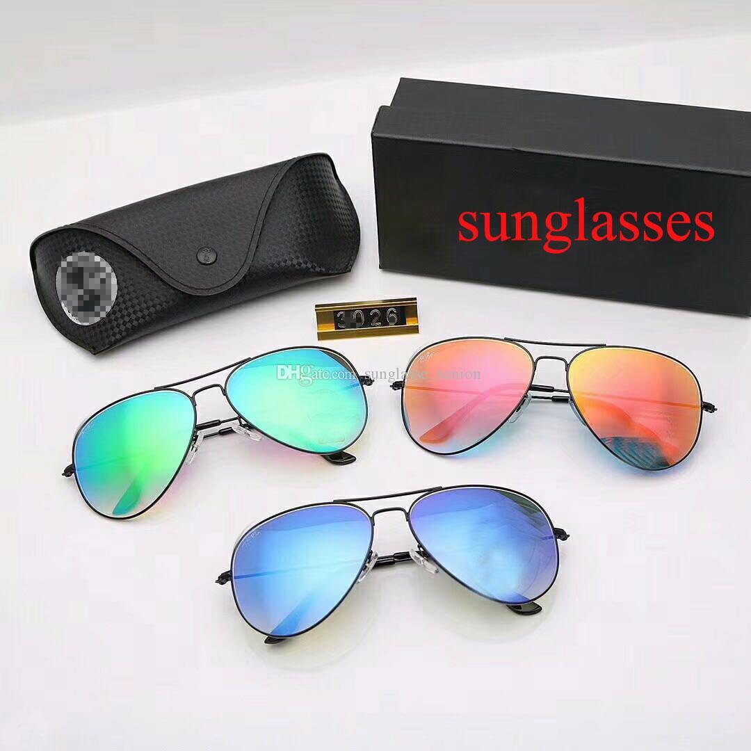 61c6786d41 Pilot Sunglasses For Men Women Designer Mirror Sunglass Top Quality ...
