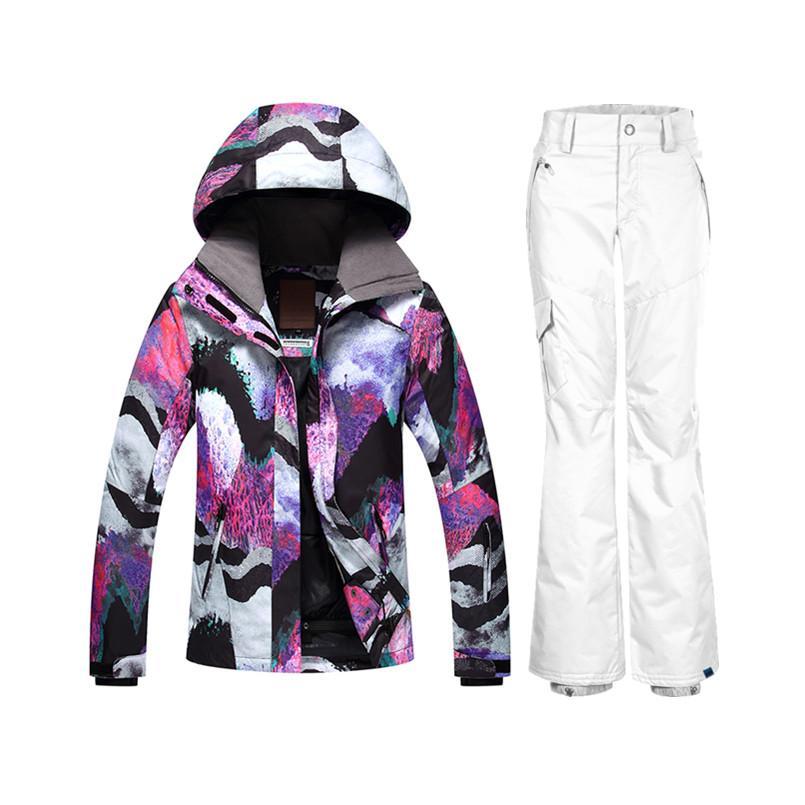 fccc23570269 2019 Wholesale GSOU Winter Women Ski Suit Snow Suit Snowboard Jackets And  Pants Warm Ski Jacket Female Sking Set From Stem, $293.53 | DHgate.Com