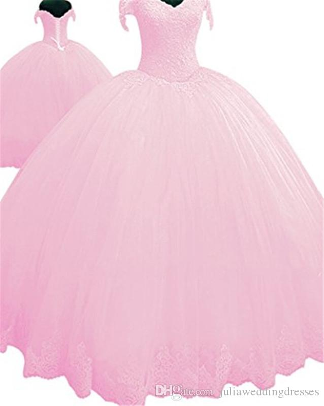 2018 Sexy Sweetheart Lace Ball Gown Quinceanera Dress with Appliques Tulle Plus Size Sweet 16 Dress Vestido Debutante Gowns BQ142
