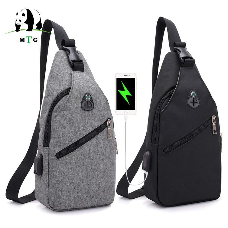 3f931fa43e7c Male Shoulder Bags USB Charging Crossbody Bags Men Leisure Waterproof Anti  Theft Chest Bag Messengers Shoulder Pack For Teenager Waist Packs Cheap  Waist ...