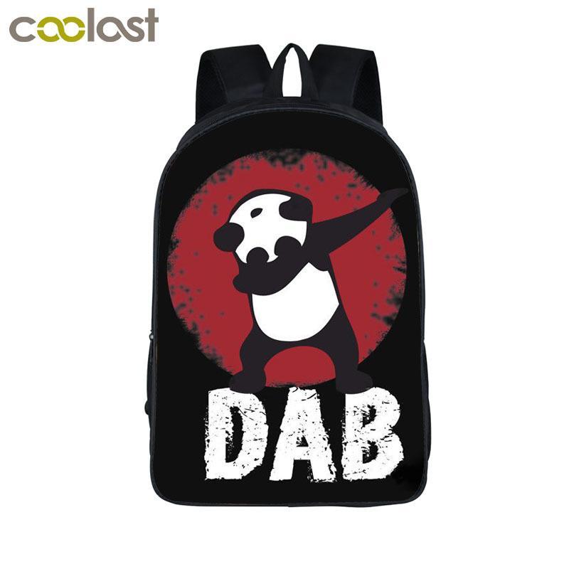 74416b421e Funny Cartoon Dabbing Panda Cat Backpack For Teens Boys Kids Book Bag  Children School Bags Men Women Hip Hop Backpack Book Bag Y1890302 Swiss  Gear Backpack ...