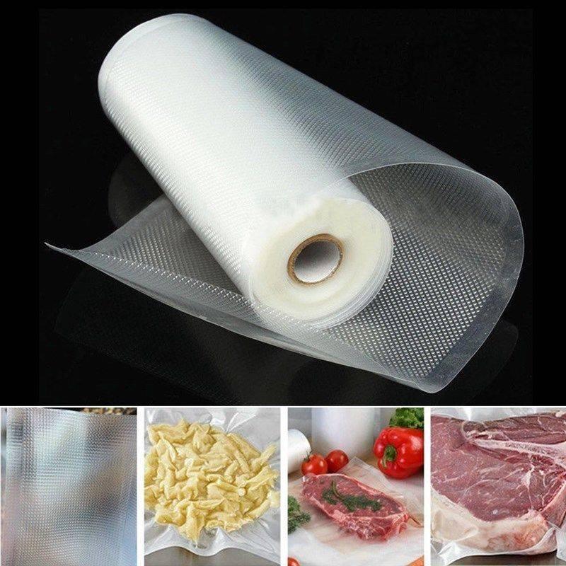 vacuum heat sealer food saver bag reusable rolls kitchen fresh keeping storage bag saran food wrap 12 15 20 25 28cm food saver bag seal bag food storage bag
