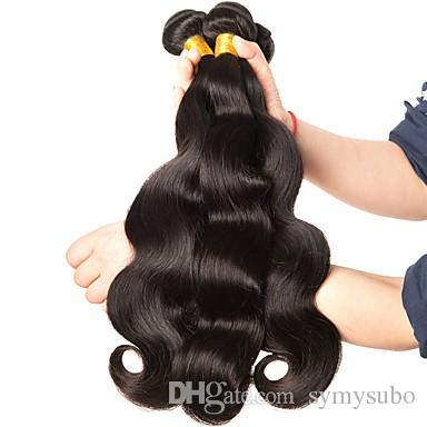 "A Iot Of Discount Brazilian Virgin Body Wave Hair Extensions 100% Brazilian Human Hair Weave 10-30"" Unprocesseed Remy Hair Extension"