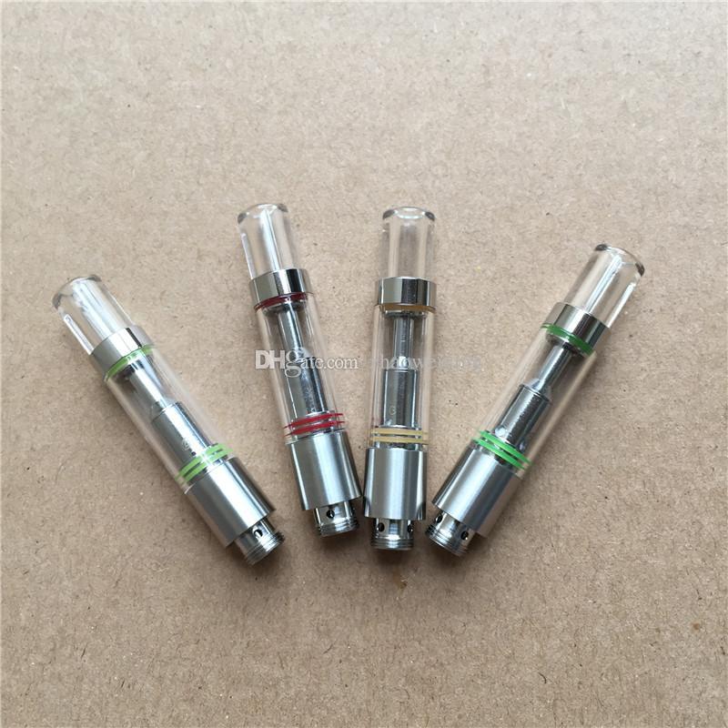 510 Vape Стеклянный резервуар Керамические катушки с картриджами 0.5 мл Испаритель-распылитель для предварительного нагрева x8 vape комплекты батарей