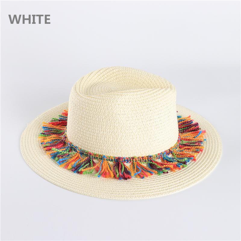 Acquista Xianxianqing Cowboy Occidentale Cappello Di Paglia Uomo Donna  Estate Paglia Cappelli Vacanza Vacanze Cappello Da Sole Jazz Cap Ampio Tesa  ... 1bad0561fecc