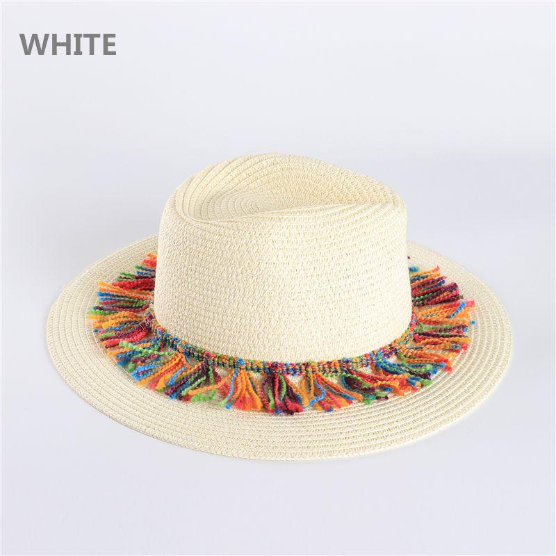 ... Occidental Sombrero De Paja Para Hombres Mujeres Sombreros De Paja De  Verano Sombrero Del Sol Del Día De Fiesta De Vacaciones Jazz Cap Borde  Ancho Sun ... 48b83e52df9