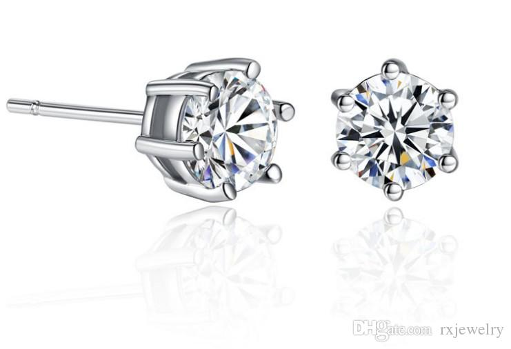 d88bc18385 2019 New Arrival Fashion CZ Diamond Stud Earrings 18k Gold Plated White  Stone Crystal Jewelry Earrings For Men And Women From Rxjewelry, $5.23 |  DHgate.Com
