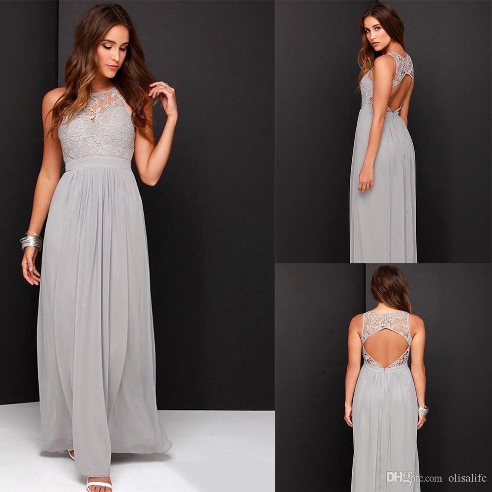 Kleid trauzeugin ruckenfrei
