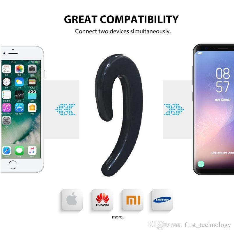New s-103 Ear-hook Headset Wireless Bluetooth Earphone unilateral Wireless Headphones HD call No earplugs with Mic With Retail Box