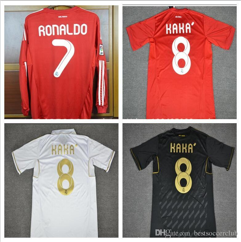008550bc5 2019 Top Thai Retro Jersey Real Madrid 2011 2012 White Black Home Away Real  Ronaldo KAKA Di María Özil Alonso Shirts Long Sleeve Or Short Sleeve From  ...