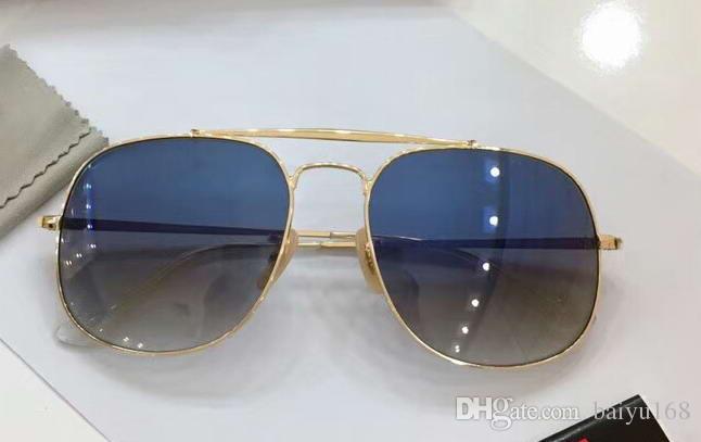 5e042dff14c Mens Vintage Metal Gold Pilot Sunglasses Blue Gradient Lens Luxury  Sunglasses Eye Wear New With Box Spitfire Sunglasses Native Sunglasses From  Baiyu168