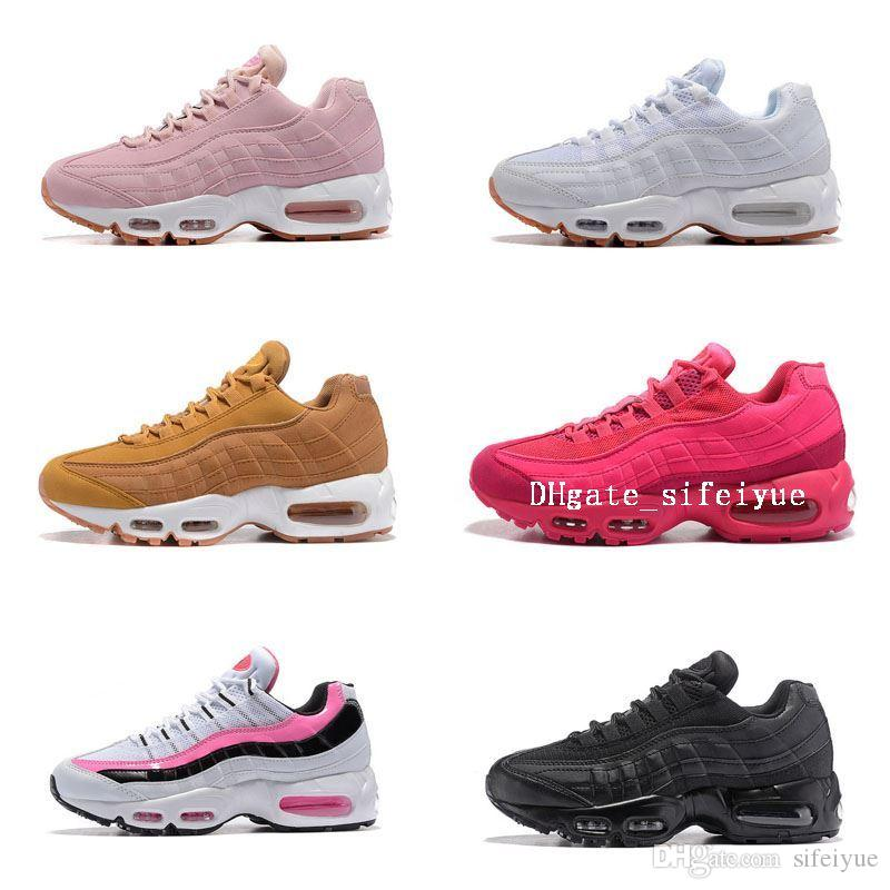Womens Sneakers Shoes Air Cushion 95 Running Shoes Black Red White Sports Trainer Women Surface Breathable Woman Sports Casual Shoes 2014 new cheap price best wholesale 7d83H