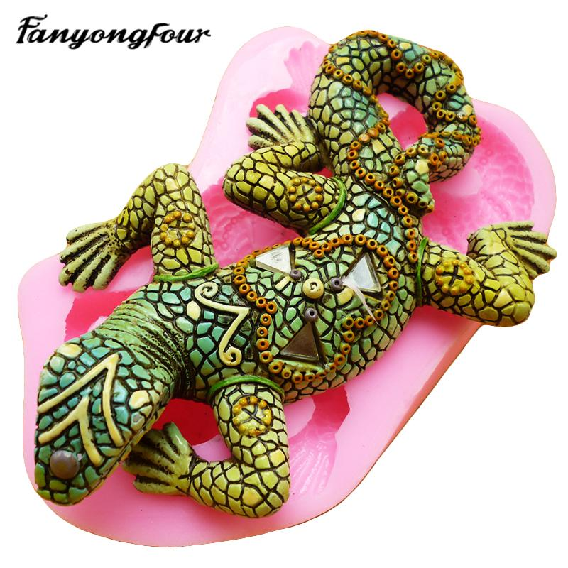 2019 3D Lizard Cake Mold Silicone Mold Chocolate Gypsum Candle Soap