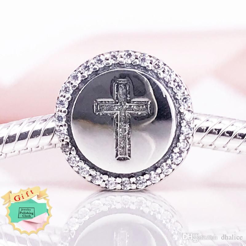 438014d43 2019 Faith Cross Charm Authentic 925 Sterling Silver Charms 925 Ale Beads  Fits Pandora Bracelets DIY Fine Jewelry From Dhalice, $14.37   DHgate.Com