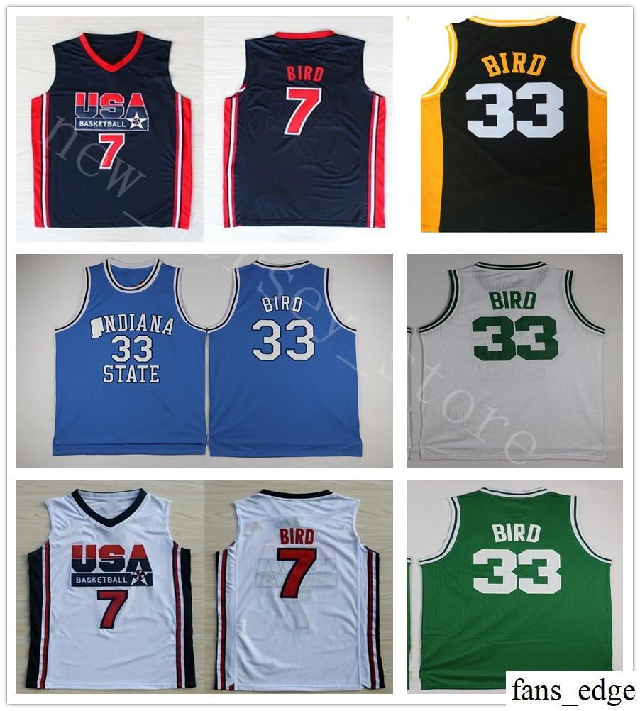 buy online 88313 4cc25 indiana state sycamores 33 larry bird white authentic jersey