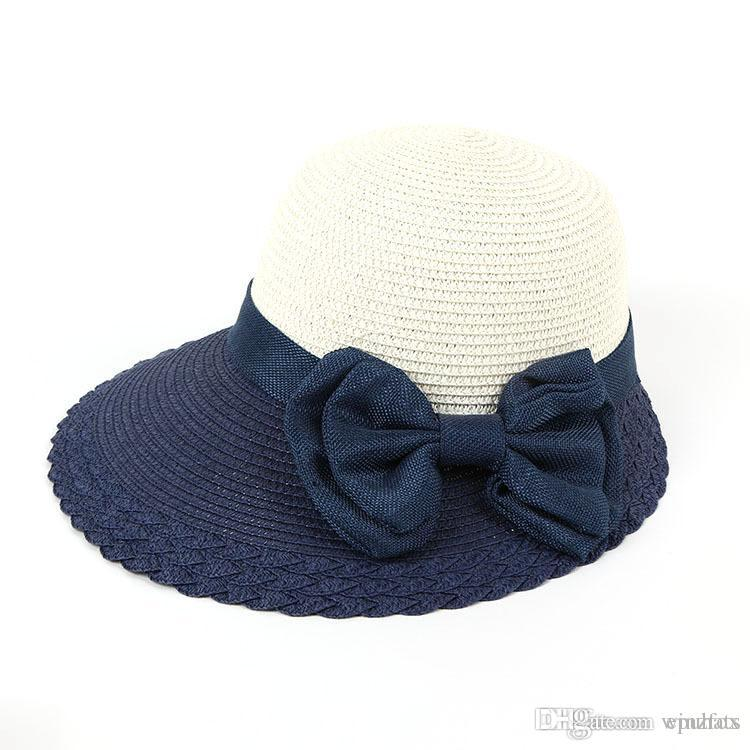 01b0d44a2ab Lady Straw Hat 2018 Combo Colored Female Ladies Paper Straw Hat Sun Summer  Beach Wide Brim UV Protection EPU-MH1878 Female Straw Hat Ladies Hat Straw  Hat ...
