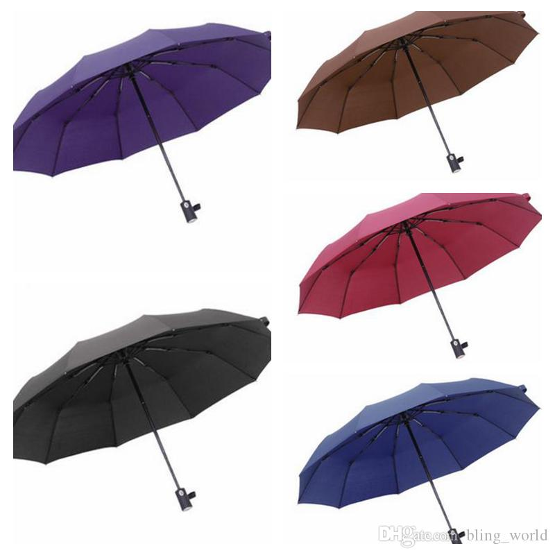 5e4ae73ab83c Automatic Rain Umbrella Business Windproof Sun Umbrellas Folding Umbrella  Portable Anti-UV Fully Umbrellas Rain 5Colors LDH162
