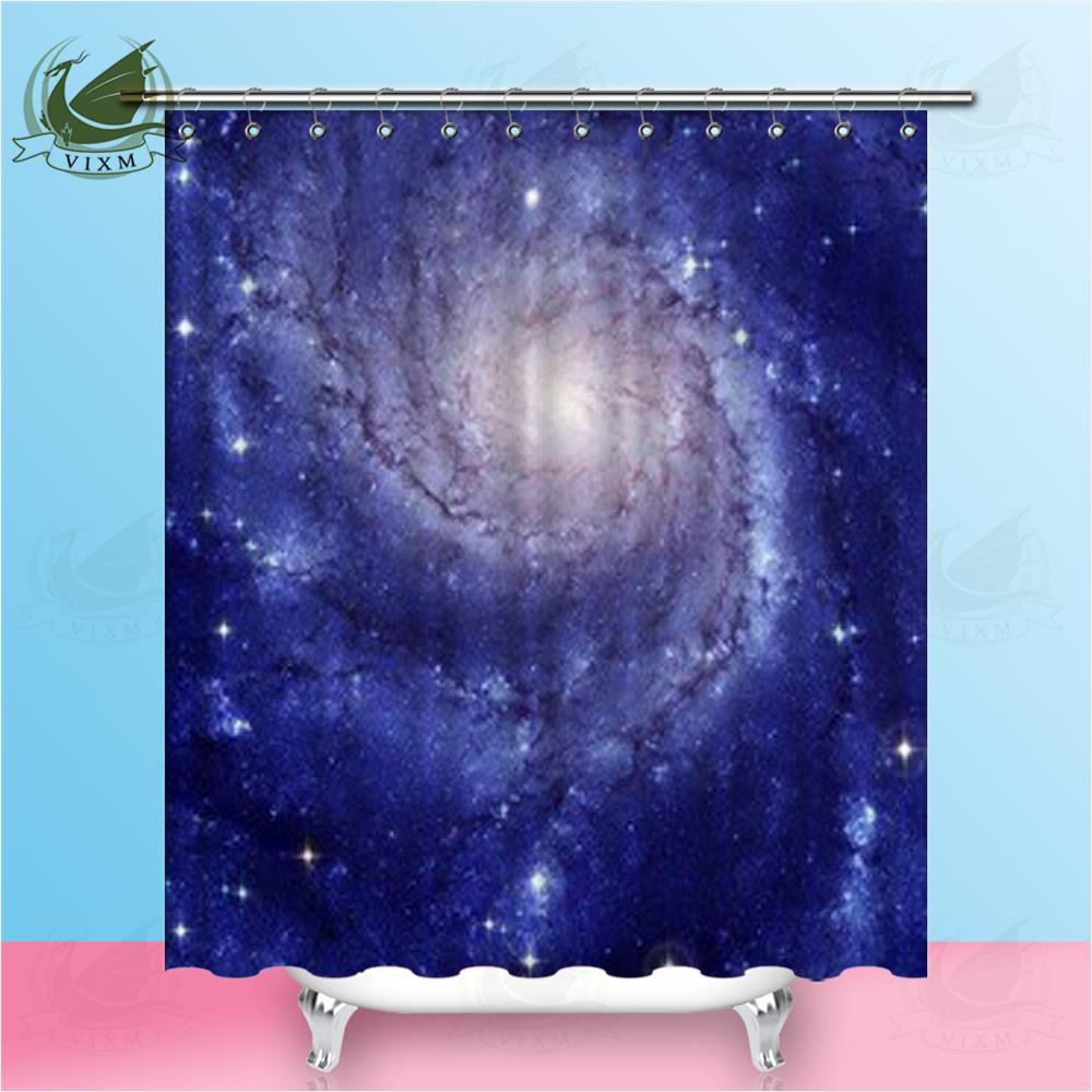 Vixm Fantasy Abstract Color Cloud Galaxy Galaxy Art Style Shower Curtains Polyester Fabric Curtains For Home Decor