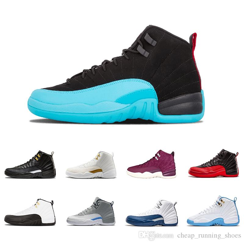 1fb6cd8dbe4368 2018 New 12 12s Men Basketball Shoes White The Master Black Nylon Flu Game  Taxi Playoffs Wolf Grey Wool Sports Shoes Sneaker 41 47 Online Shoe  Shopping ...