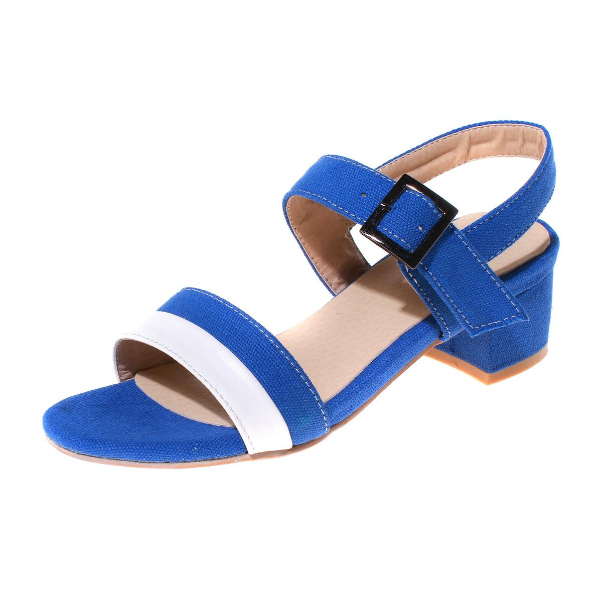 03bec98e815f10 Women Shoes Low Summer New Color Matching Simple Fashion 33 42 Code Women S Black  Blue Teal Sandals Markdown Sale White Sandals Wedge Heels From Iwalkers07