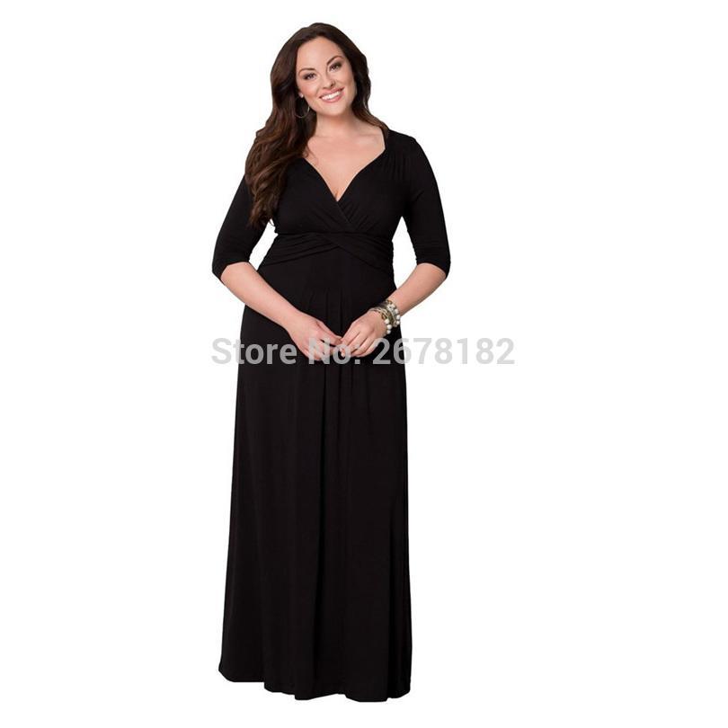 a1632a77d6c0b3 Grande taille 3XL élégante robe de soirée tunique femmes vêtements PLUS  taille 2018 tunique sexy col bateau longue style maxi robe robes de fête