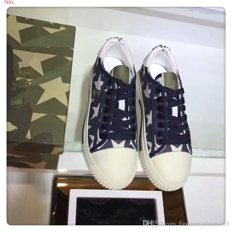 2018 NEW Brand Man and Woman Casual Shoes with star Fashion Good Quality Mixed Colors Low Cut Lace-up Race Runner Shoes
