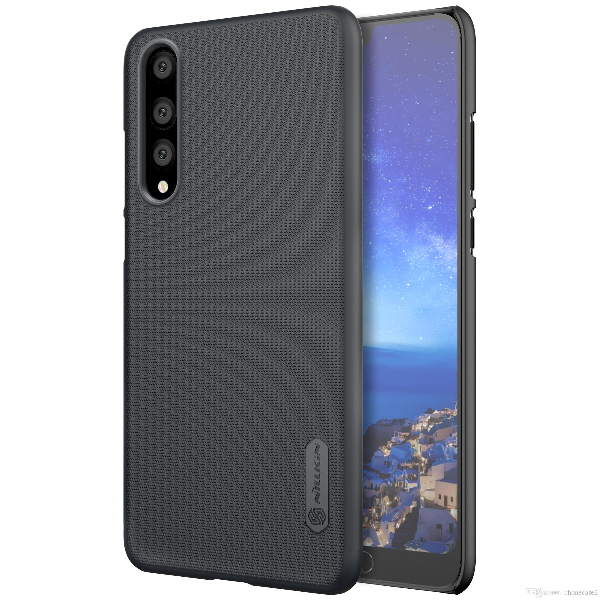 Handy Günstig Kaufen Huawei P20 Pro Fall Nillkin Frosted Shield Pc Kunststoff Hart Zurück Fall Für Huawei P20 Pro Geschenk Screen Protector Günstig Handy