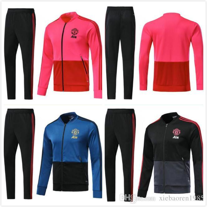 9660161db 2018 2019 UTD Tracksuit Survetement Set POGBA Football JACKET Kit ...