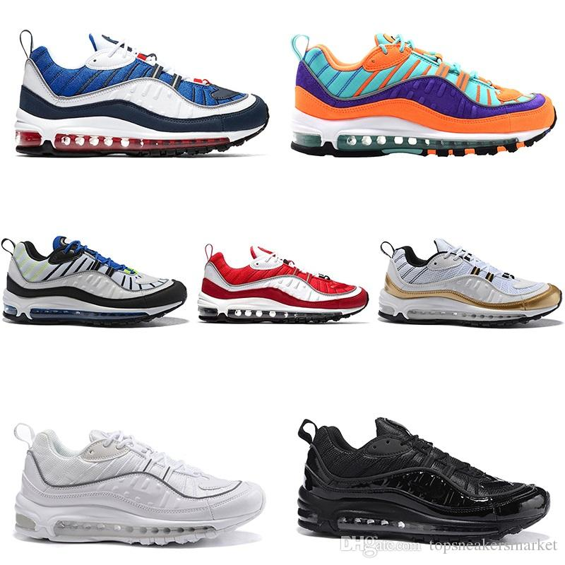 4e54979be1fb5e Designer 98 98s Mens Running Shoes OG Gundam Cone Triple Black White UK  Racer Blue Red Tour Yellow Sports Trainers Sneakers Size 40 46 Shoes Sports  Spikes ...