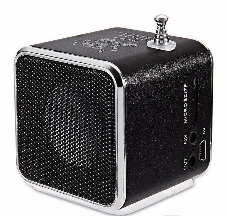 New type portable Mini Speaker TD-V26 HiFi Stereo Audio Speakers FM Radio TF U Disk Slot Multi-Speaker Digital Sound Box Mp3 Music Player