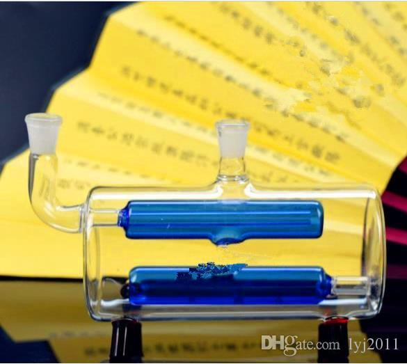 Double tube two layer filter glass water bottle Wholesale Glass bongs Oil Burner Glass Water Pipes Oil Rigs Smoking Rigs