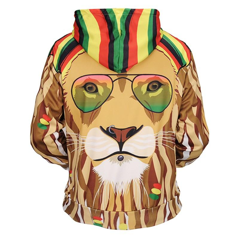 a96f4f2dded1 2019 Brand Newest Colorful Lion With Glasses 3D Printed Hooded Hoodies  Men S Women Drawstring Hoodies Pullover Sweatshirt From Watch2013