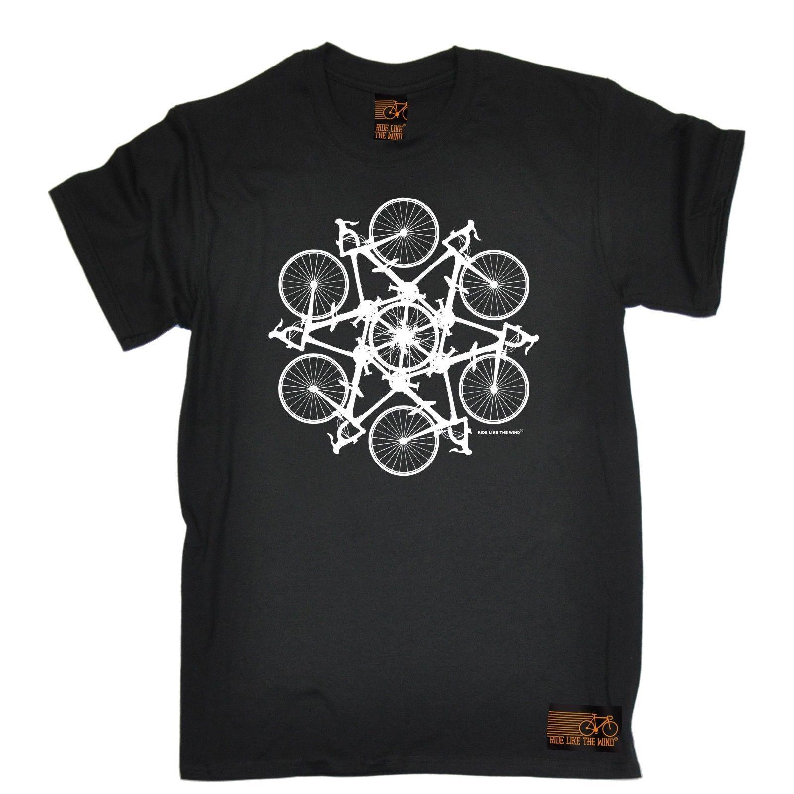 Bicycle Circle Kaleidospoke T SHIRT Cycling Bike Cyclist Bmx