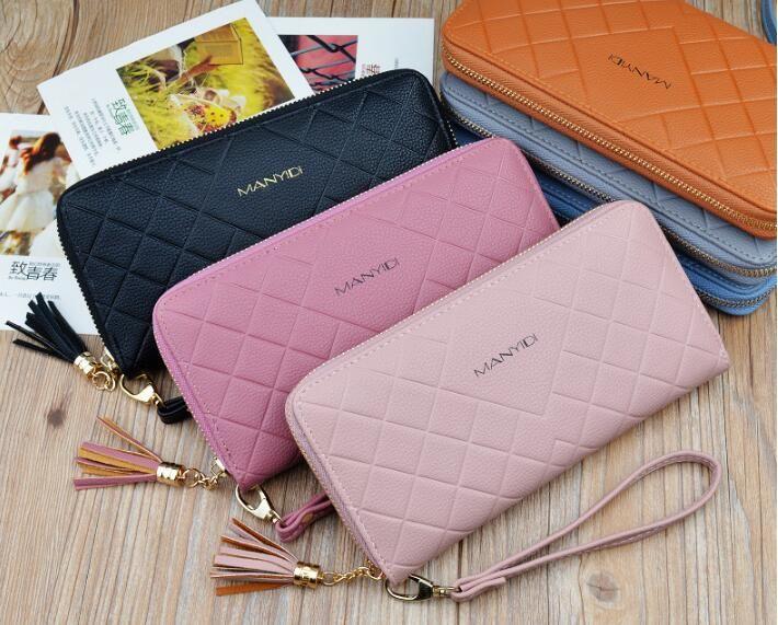 ba5ce6ef4a2 Tyeer@ Women's Wallet hand purse female long multi-purpose wallet wallet  Lingla chain mobile phone bag
