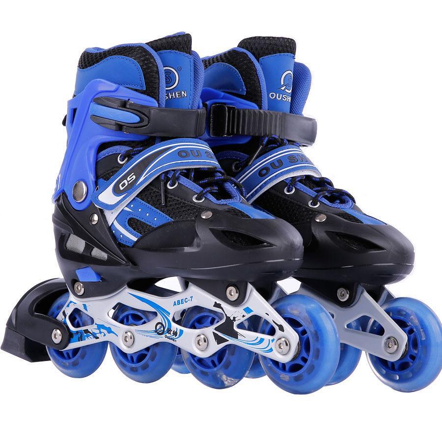 1b85206d560c3d 2019 Wholesale Adult Children Inline Skate Roller Skating Shoes Adjustable  Washable PVC Hard Wheels One Front Wheel Flashing From Pekoe, $82.71 |  DHgate.Com