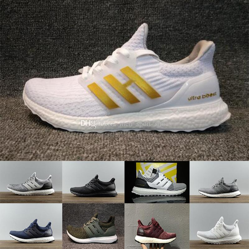4034ae331 2018 Ultraboost 3.0 4.0 Running Shoes Uncaged 3.0 III Primeknit White Black Men  Women Athletic Shoes Size 36-47 Wholesale Drop Shipping Online with ...