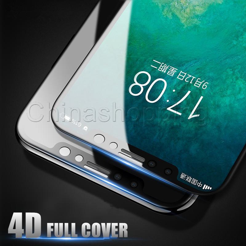 Pantalla completa 5D vidrio templado Protector Dureza de Lucha contra los arañazos de la película para el iPhone 11 Pro Max X Xr Xs Max 8 7 6 6S Plus con paquete al por menor