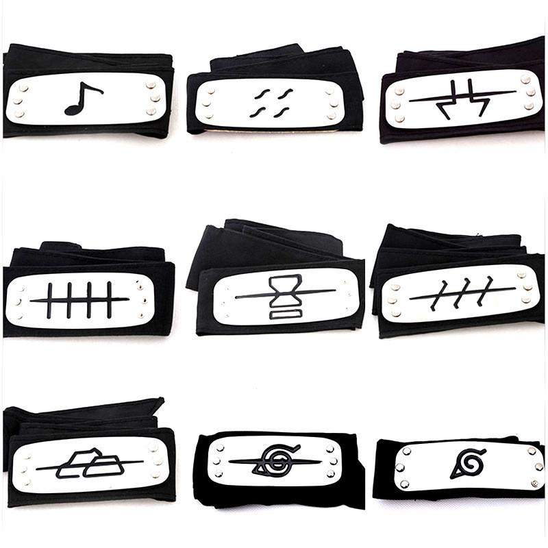 PrettyBaby ANIME Naruto Headband 95cm Leaf Village Logo Konoha Kakashi Akatsuki Members Cosplay Costume Accessories blue red OTH582