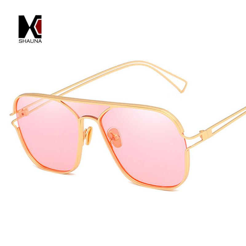 983b2889a9 SHAUNA Oversize Metal Frame Square Sunglasses Women Fashion Candy ...